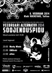 Veebruari Alternatiiv 2014 Warm Up Party 06.02.2014 18:00